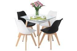 Zestaw mebli do jadalni stół kwadratowy LUNA i 4 krzesła BOLONIA
