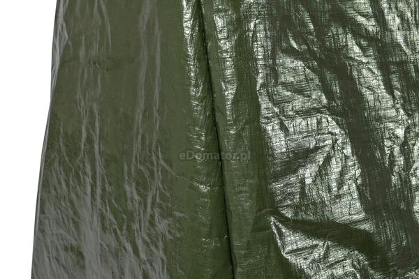 Duża huśtawka ogrodowa rozkładana GRACJA SZARA w ZESTAWIE z pokrowcem