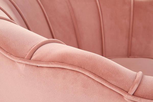 Fotel Glamour MUSZLA AMORINITO - pudrowy róż
