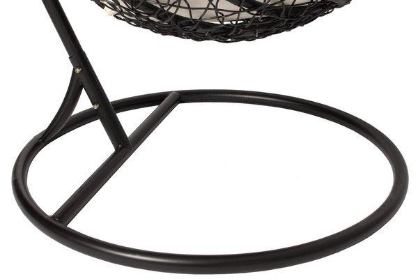 Fotel wiszący kosz kokon huśtawka BELLA - czarny