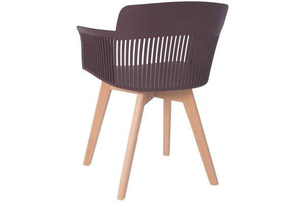 Głębokie stylowe krzesło fotel IMPERIA - brązowe