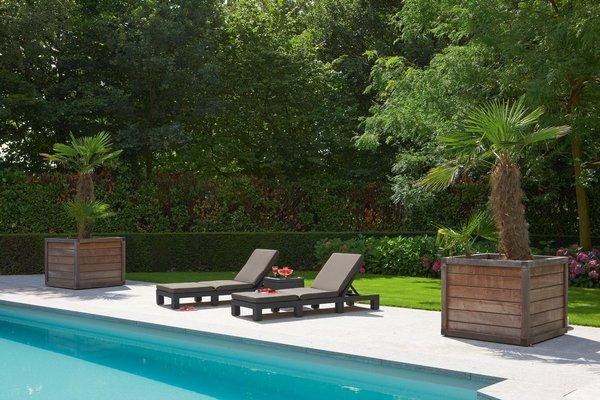 Komplet 2 szt. leżaków basenowych DAYTONA - brązowe