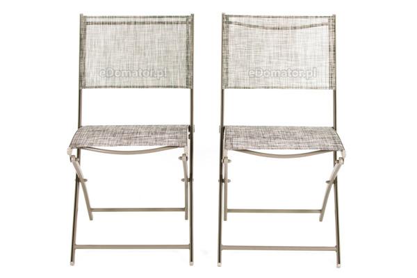 Krzesła ogrodowe balkonowe składane - 2 szt.