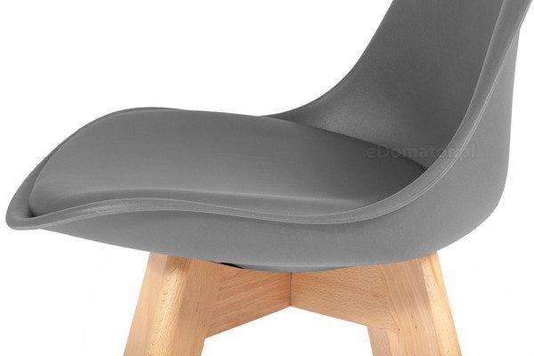 Krzesło do jadalni BOLONIA grafitowe - 4 szt.