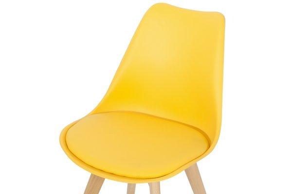 Krzesło do jadalni DSW DAW Eames BOLONIA - żółte z poduszką