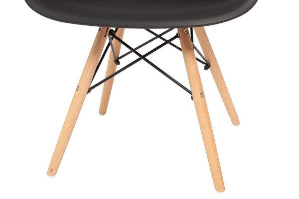 Krzesło do jadalni plastikowe FLORENCJA - czarne