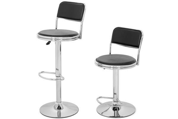 Krzesło hoker COLIN 76-103 cm - czarny