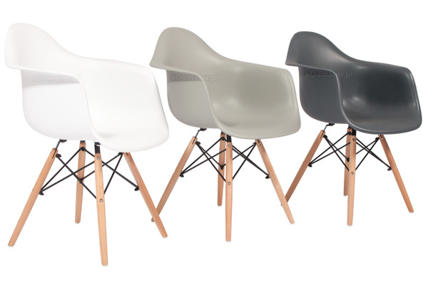 Krzesło nowoczesne plastikowe FLORENCJA - szare