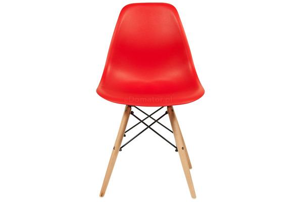 Krzesło nowoczesne plastikowe MEDIOLAN - czerwone