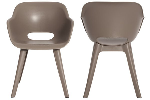 Krzesło ogrodowe do jadalni AKOLA - cappuccino
