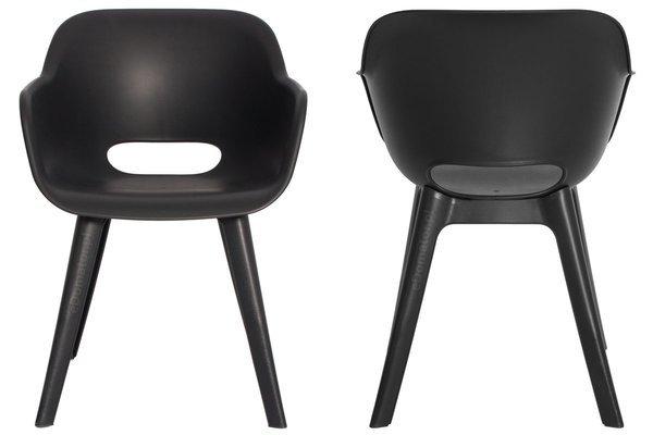 Krzesło ogrodowe AKOLA - grafit