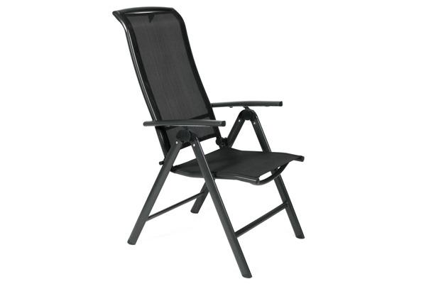 Krzesło ogrodowe składane aluminiowe VEGAS - czarne