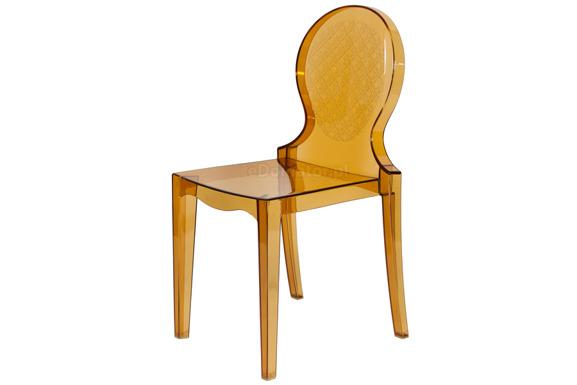 Krzesło plastikowe ARMONY - brązowe