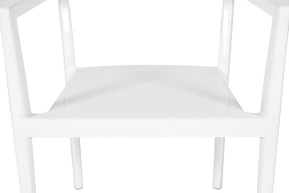 Krzesło plastikowe GEPPETTO - białe