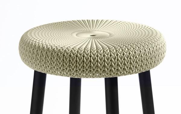 Krzesło taboret stołek kuchenny Keter COZY - beżowy