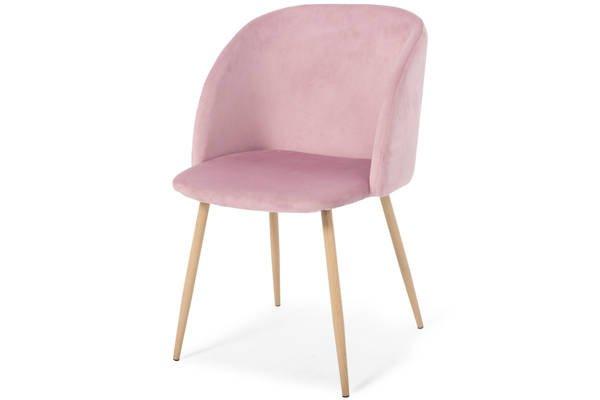 Krzesło tapicerowane do jadalni ANNA - satynowy róż