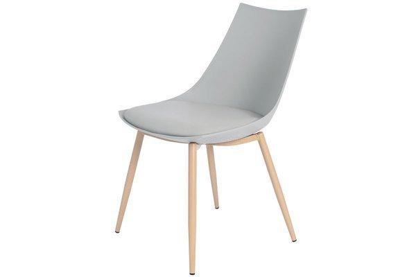 Krzesło z poduszką do kuchni jadalni SARA - szare