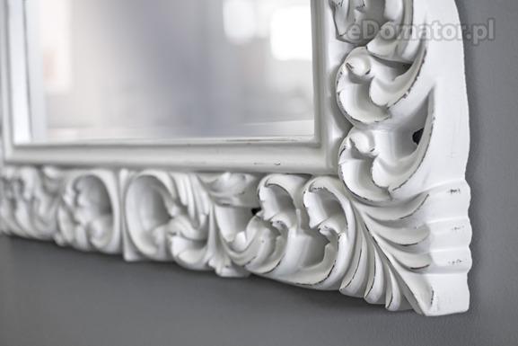 Lustro ozdobne GABRIELLE - białe