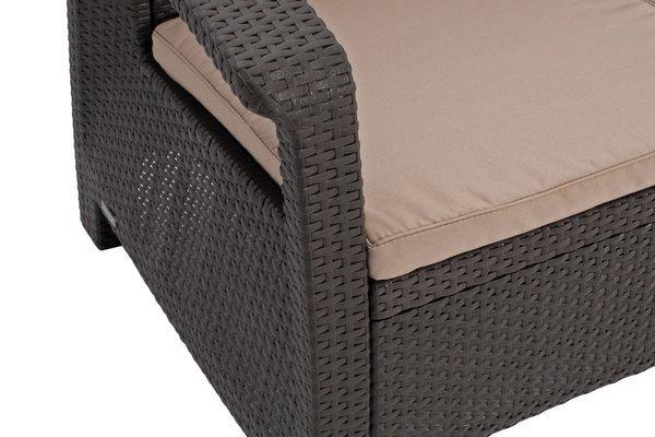Meble ogrodowe CORFU BOX 4-osobowy - brązowy