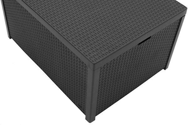 Meble ogrodowe CORFU BOX 4-osobowy - grafitowy