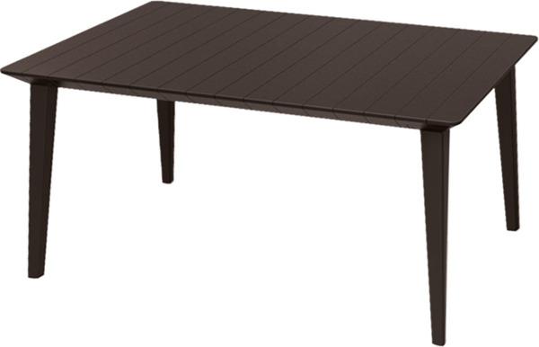 Meble ogrodowe DELANO + stół LIMA zestaw 6-osobowy - brąz