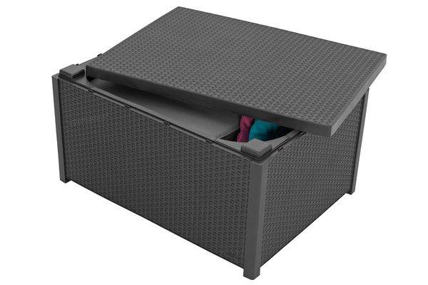 Meble ogrodowe KETER MODENA BOX 4-osobowy - grafitowy