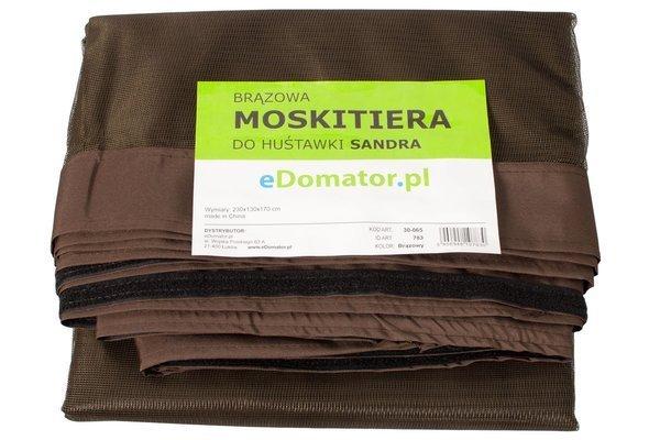 Moskitiera ochronna do huśtawki SANDRA - brązowa