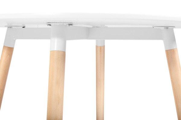 Nowoczesny biały okrągły stół MEDIOLAN 100