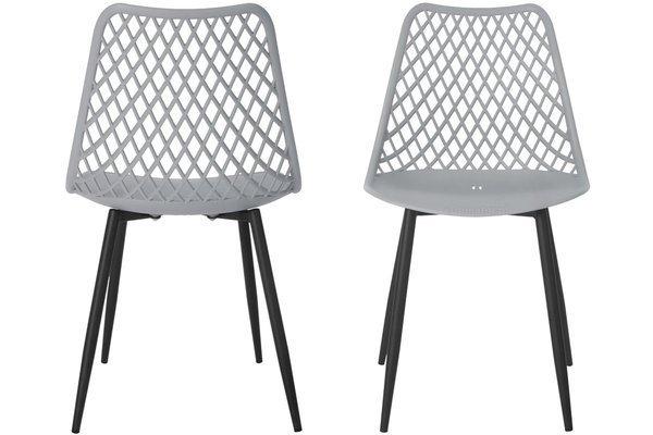 OUTLET - Krzesło ażurowe SIENA - szare