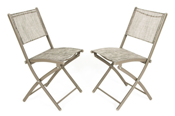 OUTLET - Krzesło ogrodowe balkonowe składane 2 szt