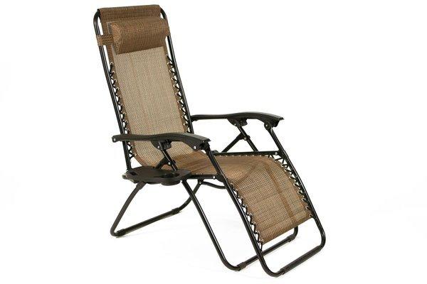 OUTLET - Leżak ogrodowy ZERO GRAVITY rozkładany - brązowy