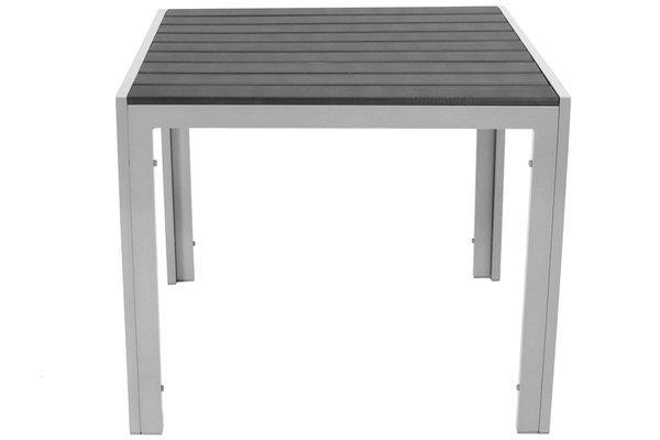 OUTLET - Stół ogrodowy aluminiowy MODENA 90 cm - Czarny