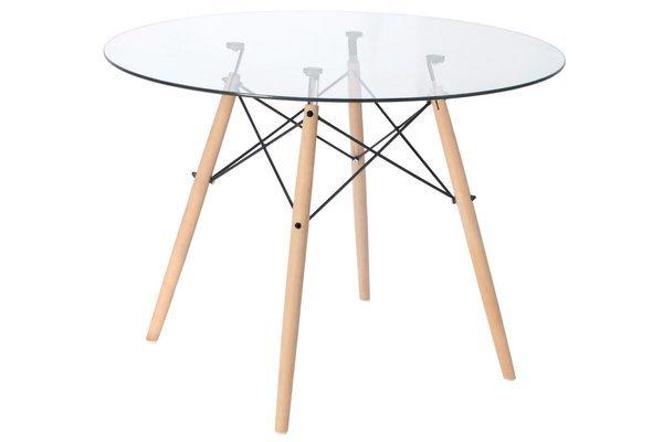 OUTLET - Stół okrągły LUNA 100 szkło hartowane