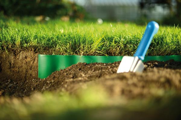 Obrzeże ogrodowe trawnikowe 20 cm x 9 m - ciemnozielone
