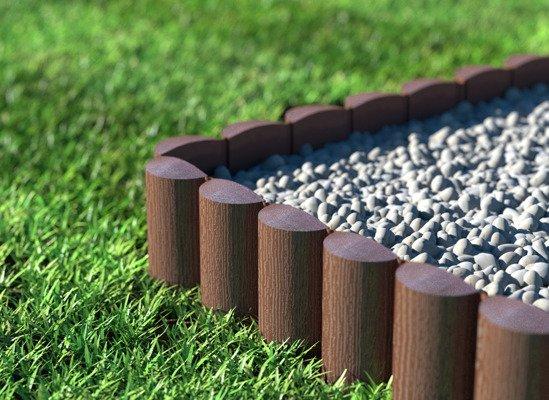 Palisada ogrodowa ECO 2,4 m - brązowa