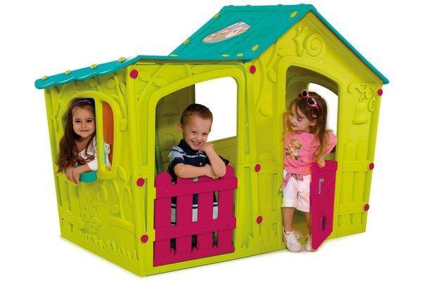 Plastikowy domek dla dzieci KETER Magic Villa House - zielony