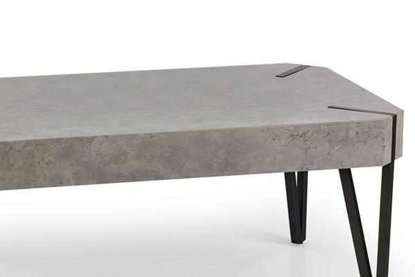 Prostokątna ława EMILY beton/czarny