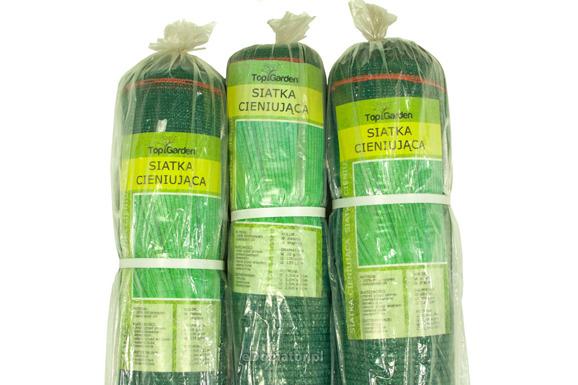 Siatka cieniująca 2,0x50m 100 g/m2 60% UV Zielona