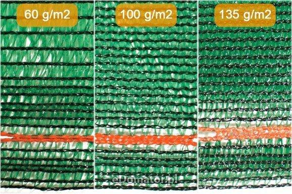 Siatka cieniująca maskująca 2,0x50m 60% UV +opaski