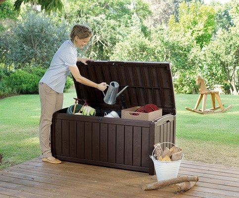Skrzynia ogrodowa GLENWOOD 390 l - brąz