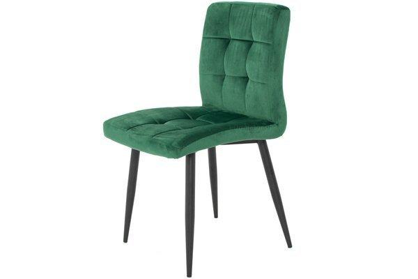 Stół PORTLAND (200/160x90) i 6 krzeseł DIANA - zestaw do salonu - brąz + zielony