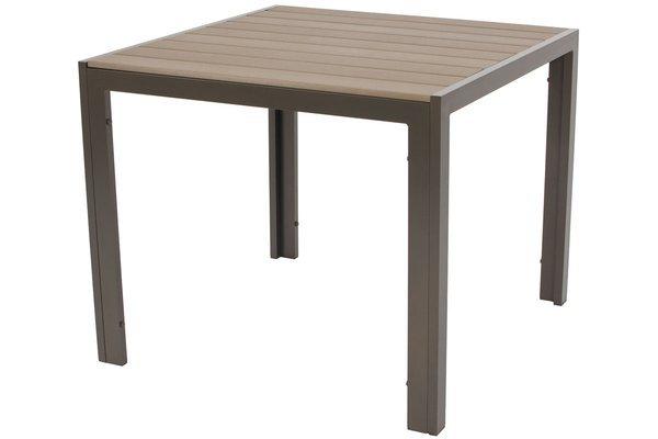 Stół ogrodowy aluminiowy MODENA 90 - Brązowy