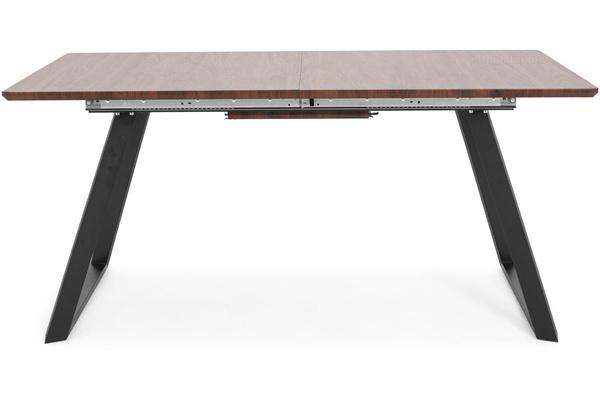 Stół rozkładany do jadalni 160/200 x 90 cm PORTLAND ciemne drewno