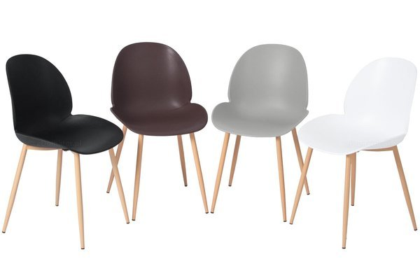 Wygodne krzesło do jadalni GALA - brązowe