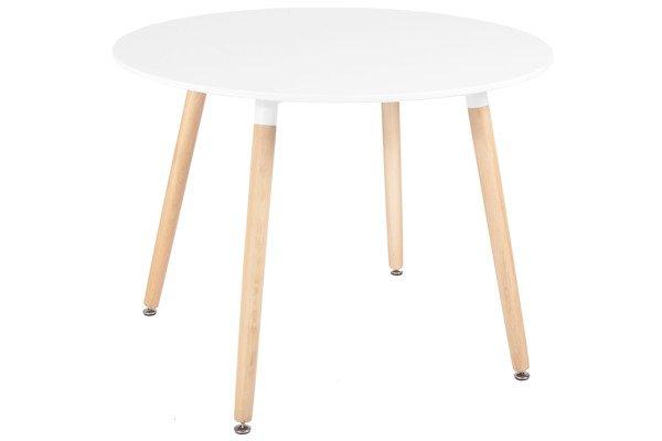 Wyprzedaż - biały stół okrągły MEDIOLAN 100