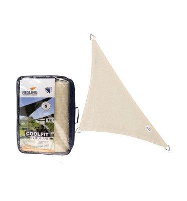 Żagiel przeciwsłoneczny COOLFIT trójkąt 90 5,0 x 5,0 x 7,1 m - Złamana biel