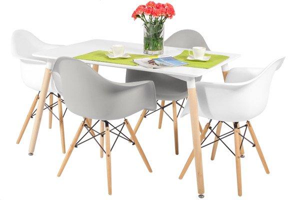 Zestaw mebli do jadalni stół 120 cm MEDIOLAN i 4 krzesła FLORENCJA