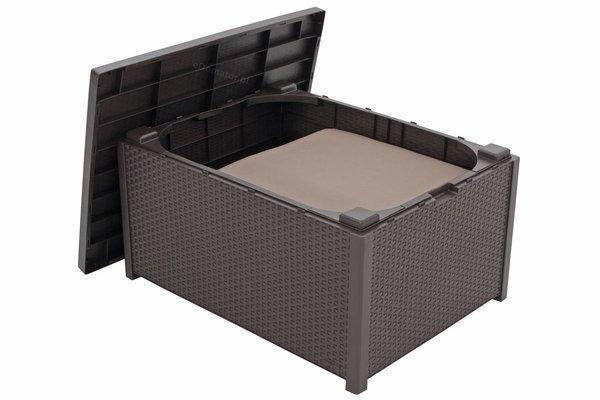 Zestaw ogrodowy CORFU Quattro Box 4-osobowy - brązowy