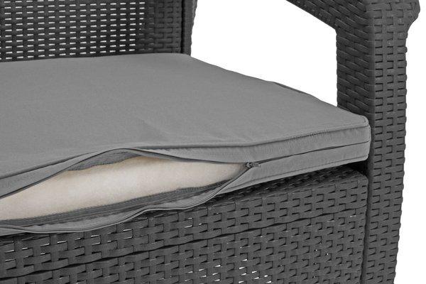 Zestaw wypoczynkowy CORFU SET MAX 5-osobowy - grafit