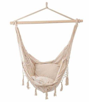huśtawka HAMAK BRAZYLIJSKI krzesło z poduszkami - ecru
